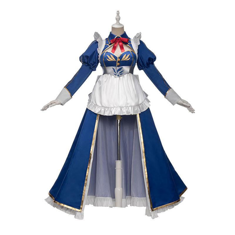 FGO Fate Grand Order アルトリア・ペンドラゴン メイド コスプレ衣装 青い