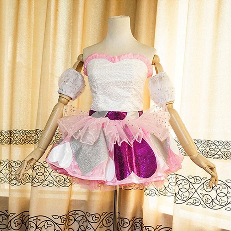 AKB48 ハート型ウイルス ステージ服 可愛い オーダーメイド コスプレ衣装 ピンク