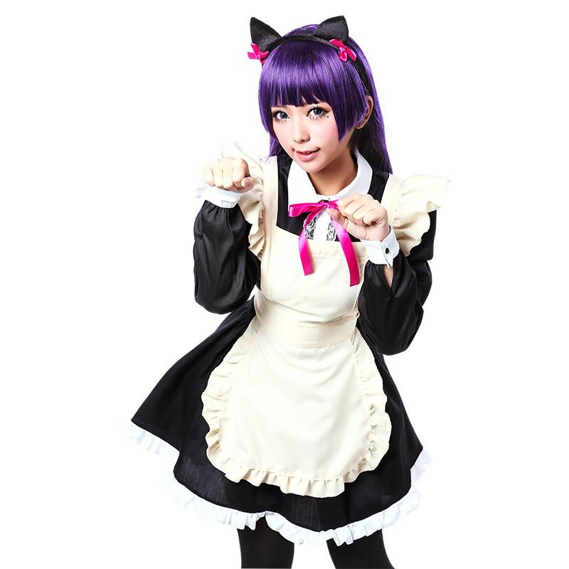 俺の妹がこんなに可愛いわけがない(俺の妹) 五更瑠璃 黒猫 くろねこ コスプレ衣装 メイド服