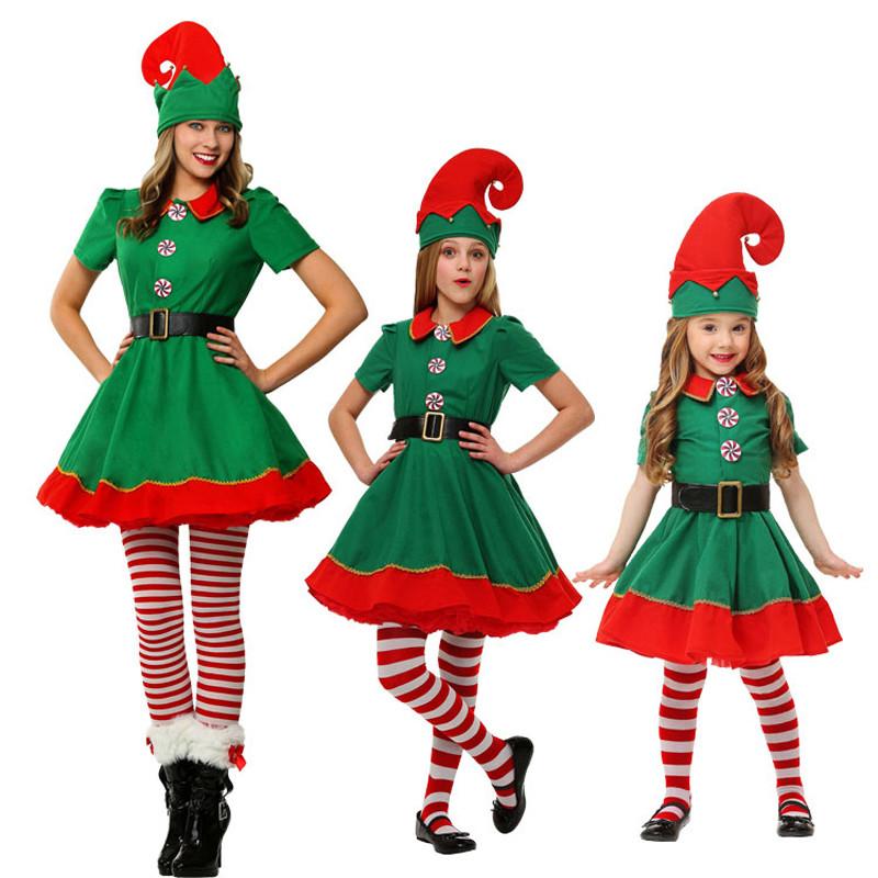 クリスマスコスプレ  3点セット 精霊 ハロウィン 成人 ガール 仮装