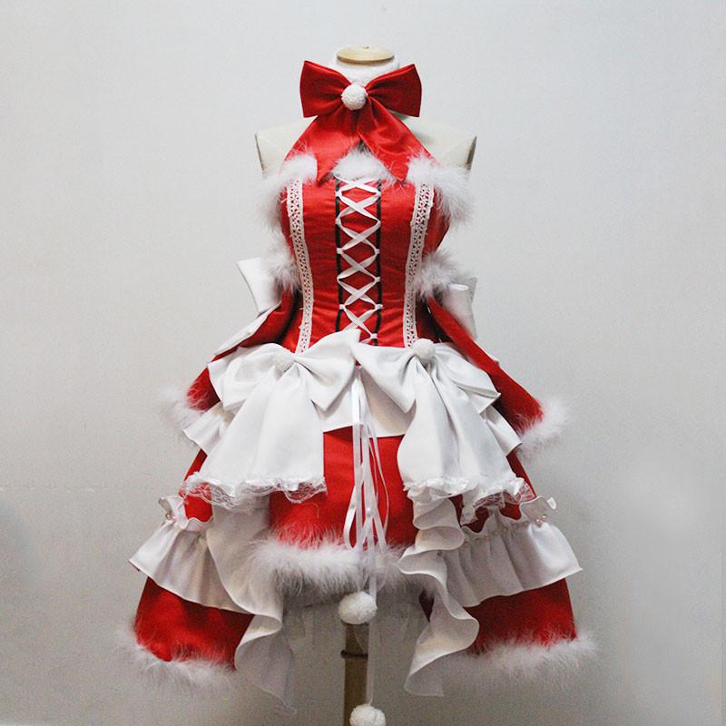 クリスマス サンタ衣装 大人用 セクシー 赤色 フリル 蝶結び
