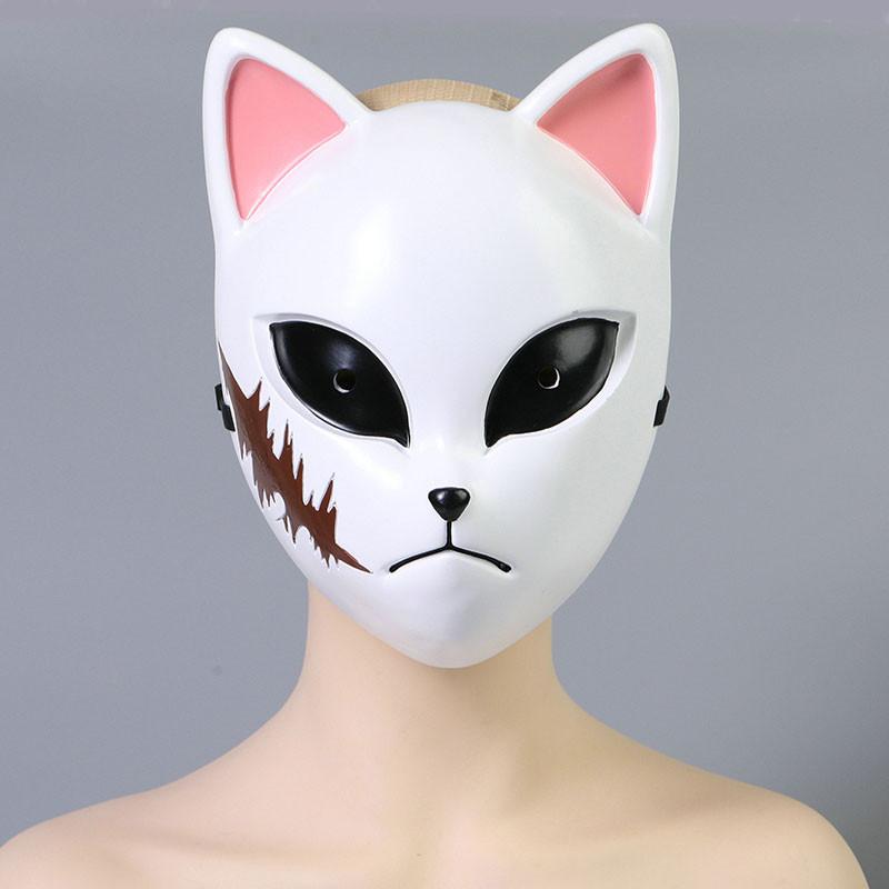 鬼滅の刃 錆兎 狐面 マスク コスプレ道具 炭治郎の兄弟子