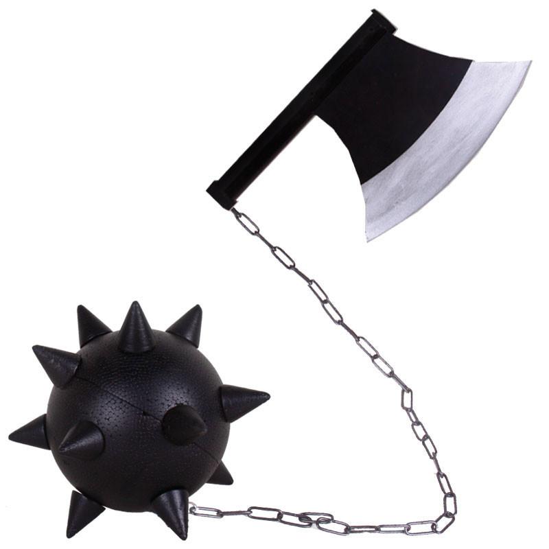 鬼滅の刃 悲鳴嶼行冥 日輪刀 コスプレ道具 岩柱 手斧と鉄球