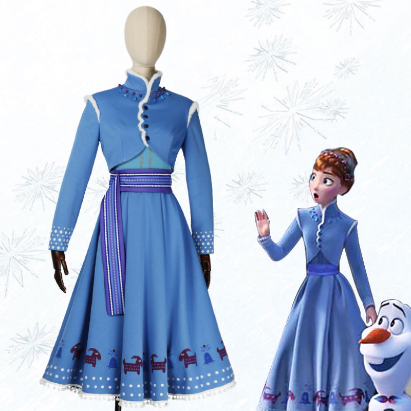 Disney Frozen 2 ディズニー コスプレ衣装 アナと雪の女王2 アナ ブルー