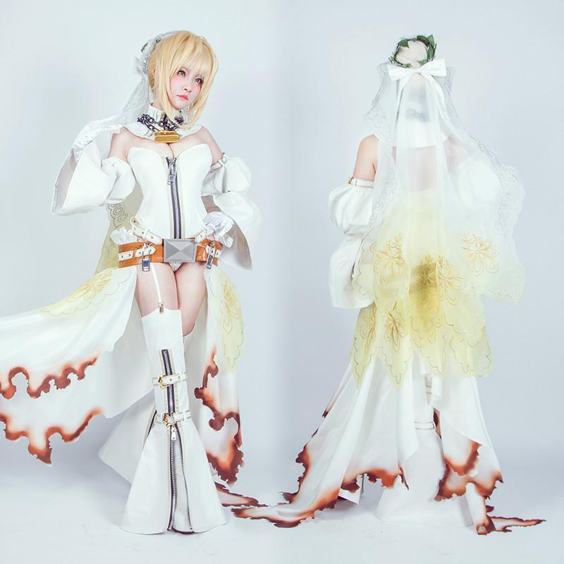Fate/EXTRA CCC セイバー?ブライド Fate/EXTRA Saber フェイト セイバー 花嫁 嫁セイバー 束縛の花嫁衣装