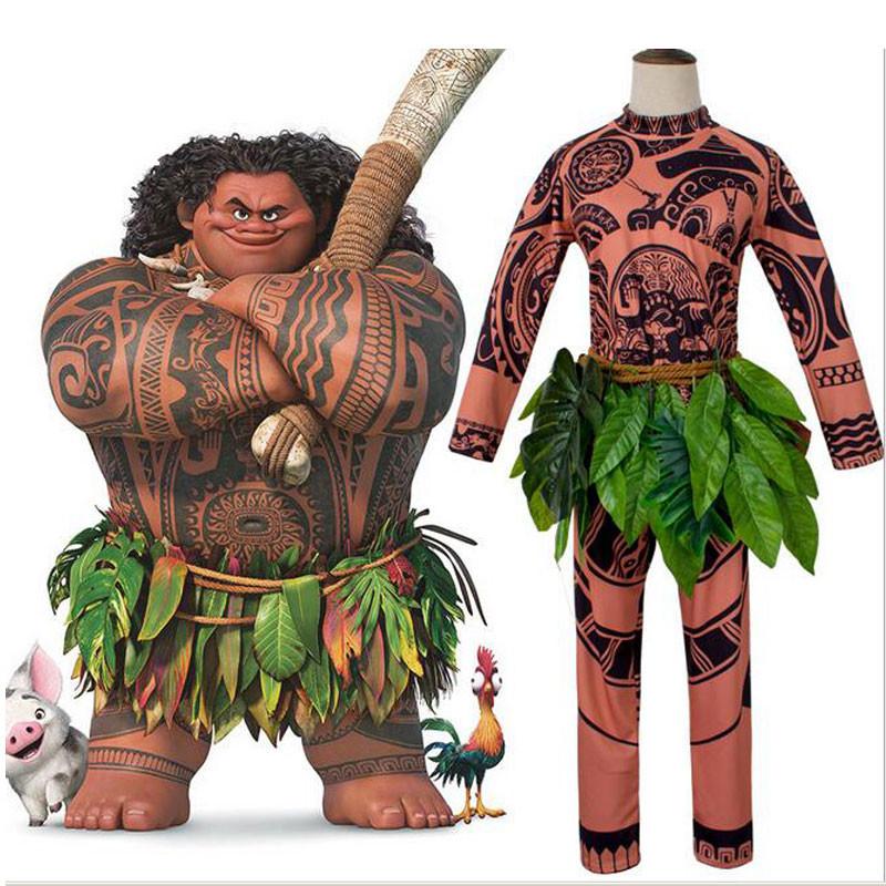 モアナと伝説の海 ディズニー マウイ ハロウィン 大人用 子供用コスプレ衣装