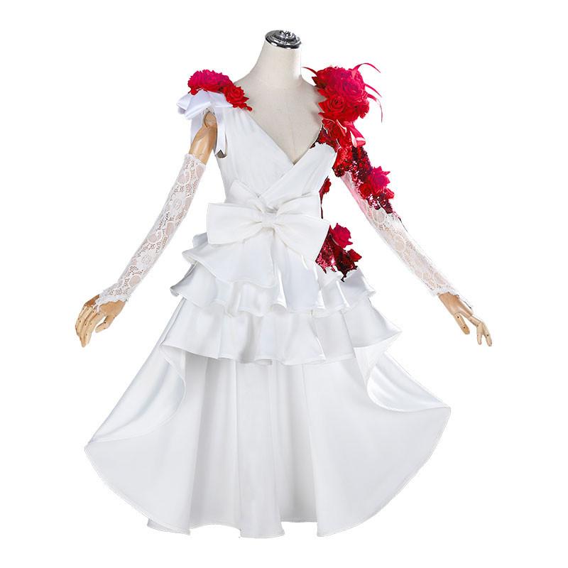 Identity Ⅴ 調香師 コスプレ衣装 スカーレットの新婦 ウェディングドレス 花嫁