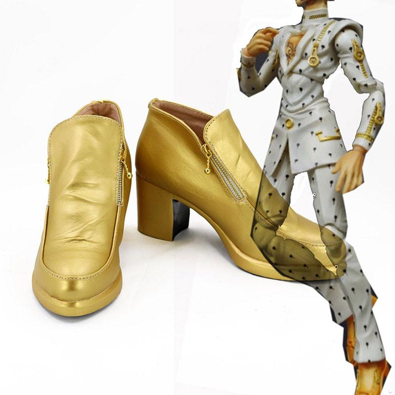 ジョジョの奇妙な冒険 コスプレ靴 ブローノ・ブチャラティ 靴 PU革 黄金の風