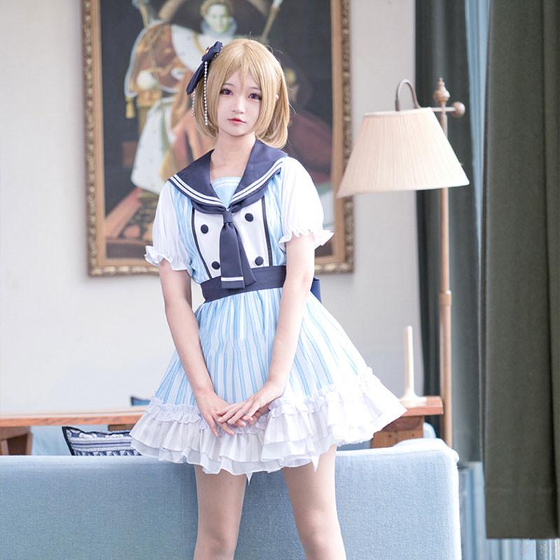 LoveLive! 海賊物語 海賊未覚醒 セーラー服 コスプレ衣装 白色