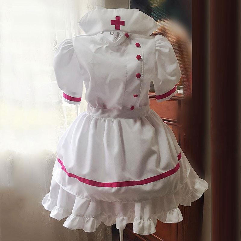 ナース服 メイド服 荷葉フリル スカート コスプレ衣装 セクシー ハロウィン