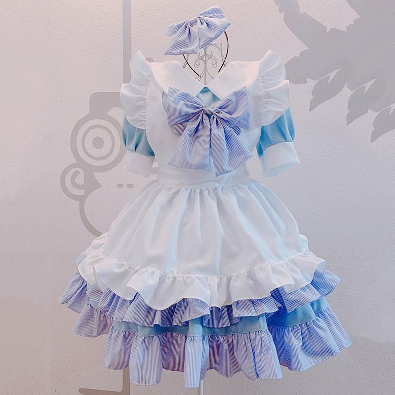クリスマス メイド服 荷葉裾 セット 可愛い 萌え