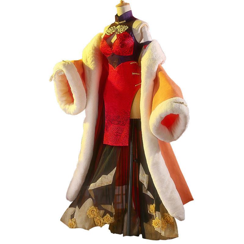 【おすすめ】ONEPIECE ワンピース ボア・ハンコック スプリット ドレス 中国風