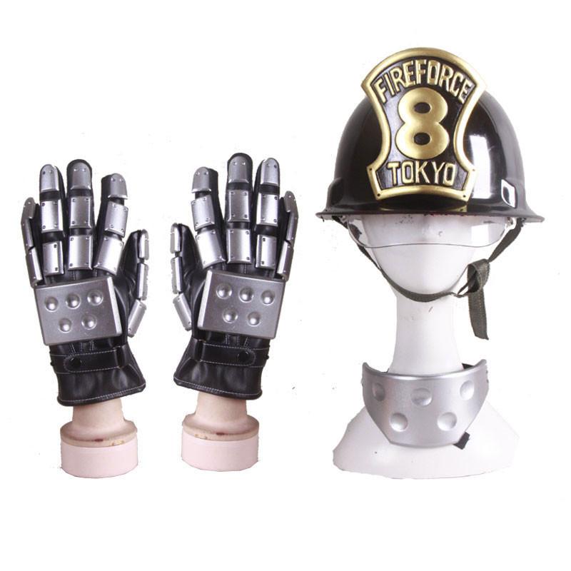 炎炎ノ消防隊 アイリス コスプレ衣装 コスプレ道具 第8特殊消防隊ヘルメット手袋