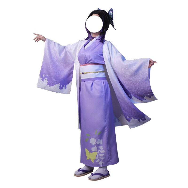 鬼滅の刃 胡蝶忍 胡蝶しのぶ  紫 着物 コスプレ衣装 和服