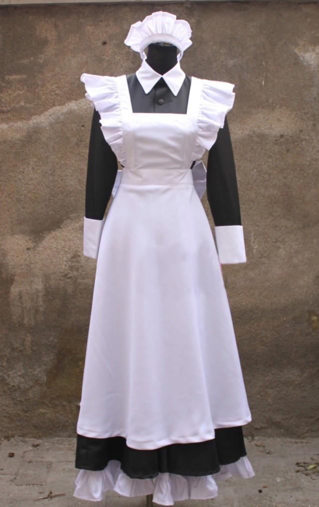 境界の彼方 栗山未来 (くりやま みらい) ロング丈 メイド服 コスプレ衣装