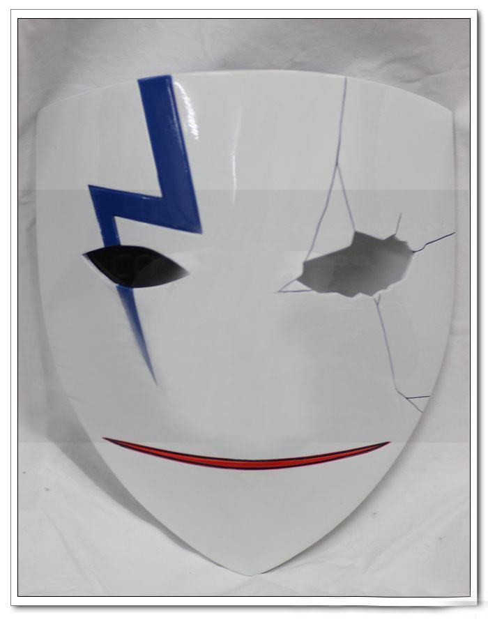 コスプレ道具 黒の契約者 李舜生(リ?シェンシュン)風 裂け紋があるマスク
