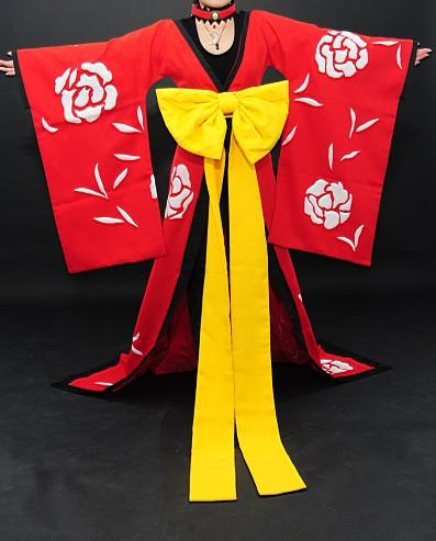 コスプレ衣装《XXXHOLIC》壱原侑子(いちはら ゆうこ)風 華やかな和服 コスチューム