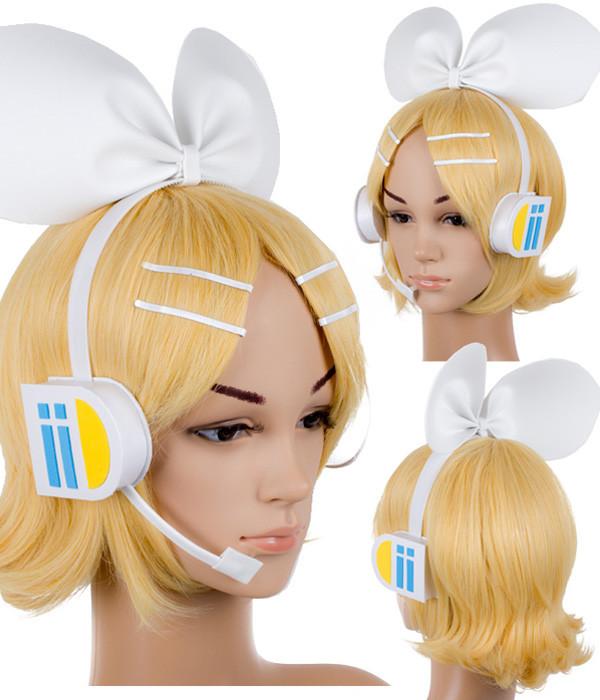 VOCALOID 鏡音リン カチューシャ風 ヘッドフォン コスプレ道具
