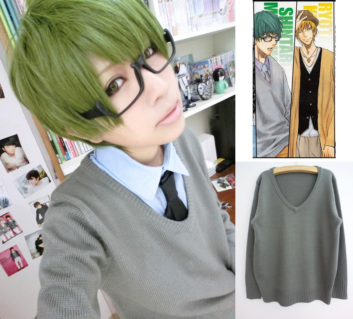 コスプレ衣装 黒子のバスケ 秀徳高校 緑間真太郎 セーター グレー