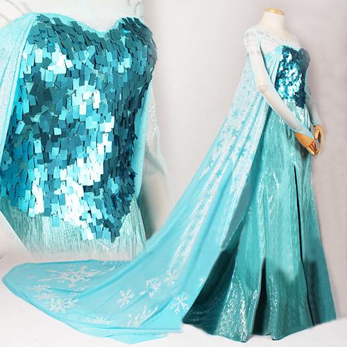 【コスプレ衣装】ディズニー FROZEN 【アナと雪の女王】 アナの姉 エルサ Elsa☆コスプレ衣装 ドレス 子供用 大人用 新版