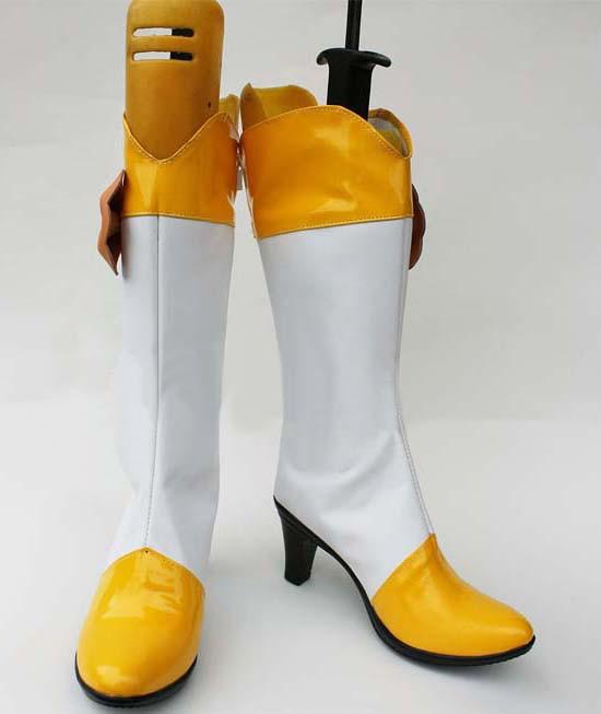 スマイルプリキュア!Smile PreCure! 黄瀬やよい キュアピース Cure Peace コスプレ 靴 ブーツ