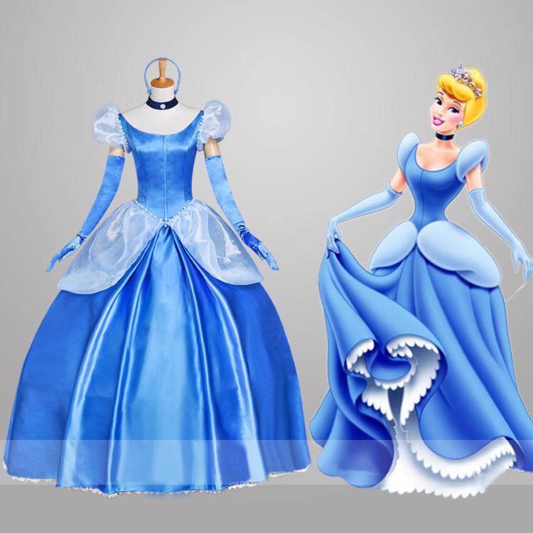 ディズニーDisney?シンデレラ?(Cinderella) PRINCESS(プリンセス)シリーズワンピース ドレス cosplayコスプレ衣装 オーダーメイド アニメ版