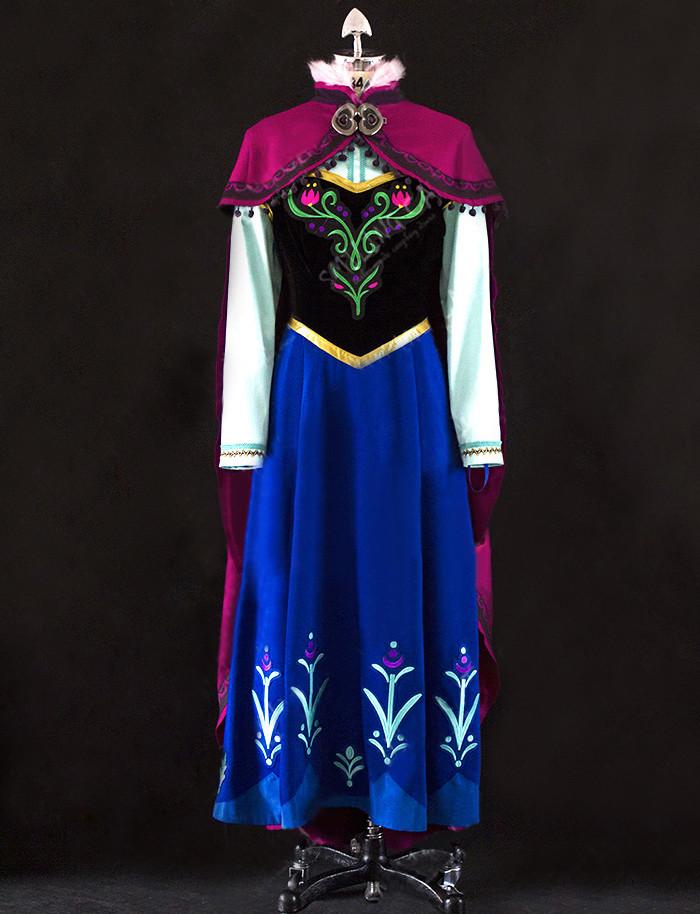 ディズニー アナと雪の女王 FROZEN  アナ Anna コスプレ衣装 コスチューム 常服 アナ 洋服 豪華版
