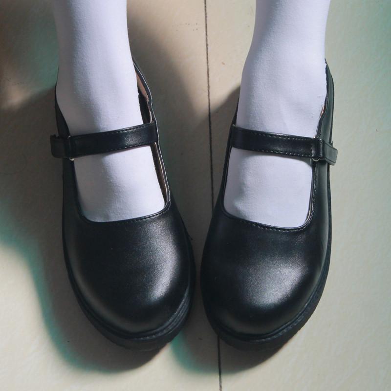 可愛いブリティッシュテイストなローファータイプのポップなゴスロリ ブーツ