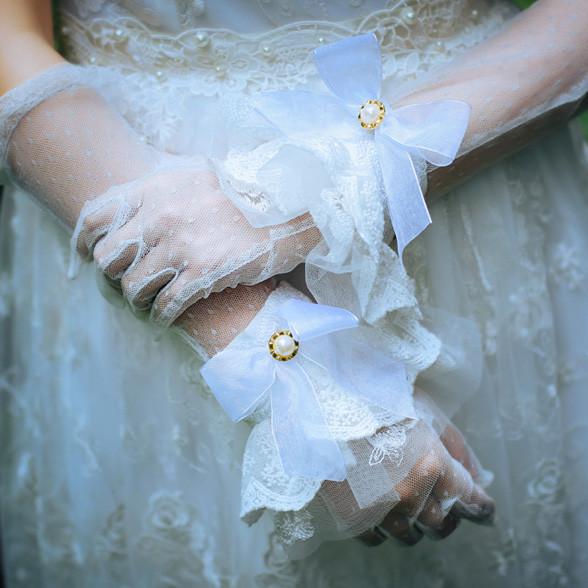 静謐の少女 レトロ レースアームウオーマー ロリータ手袋