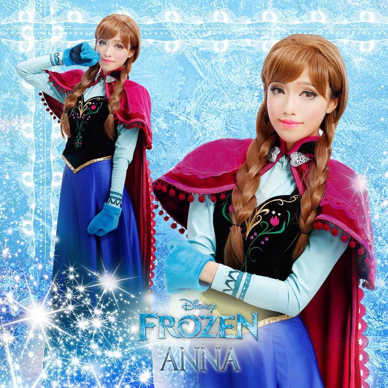 ディズニー アナと雪の女王 FROZEN アナ Anna コスプレ衣装  常服 アナ  クラシックドール 洋服