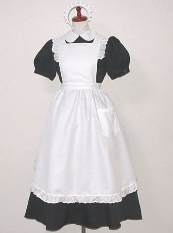 シンプルなメイド服 メイドドレス コスチューム コスプレ衣装