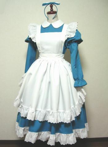 可愛いアリス風メイド服 コスプレ衣装 メイドドレス コスチューム