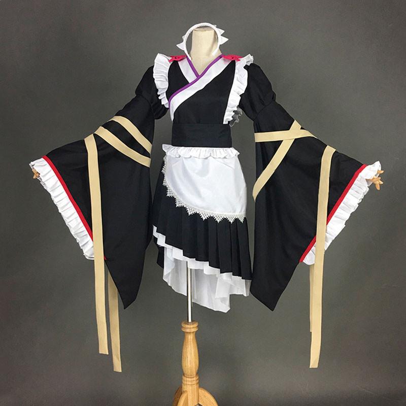 オーバーロード OVER LORD エントマ?ヴァシリッサ?ゼータ メイド服 和風 オーダーメイド 黒色