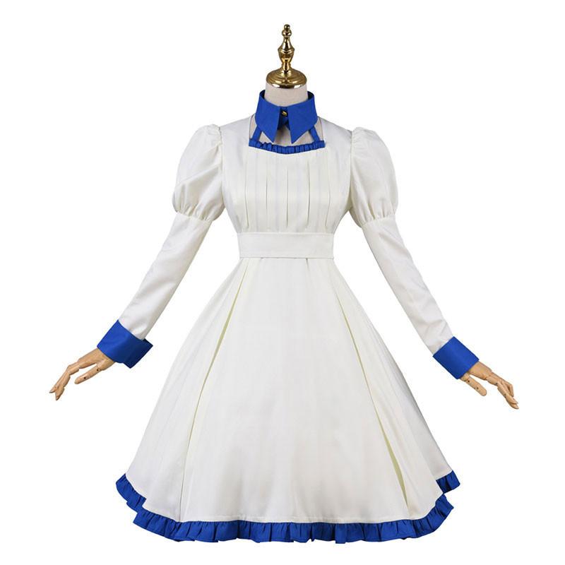 虚構推理 岩永琴子 洋装 白 コスプレ衣装