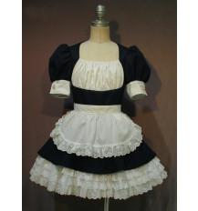 胸元ギャザーのメイドワンピ(半袖超ミニ)衣装