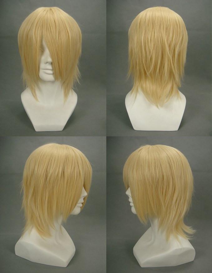 Final Fantasy13 FF13 ファイナルファンタジーXIII風 スノウ?ヴィリアース風 コスプレウィッグ