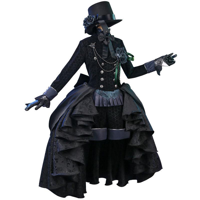 黒執事 シエル?ファントムハイヴ 黒ローズ バラ 礼服 コスプレ衣装 全セット