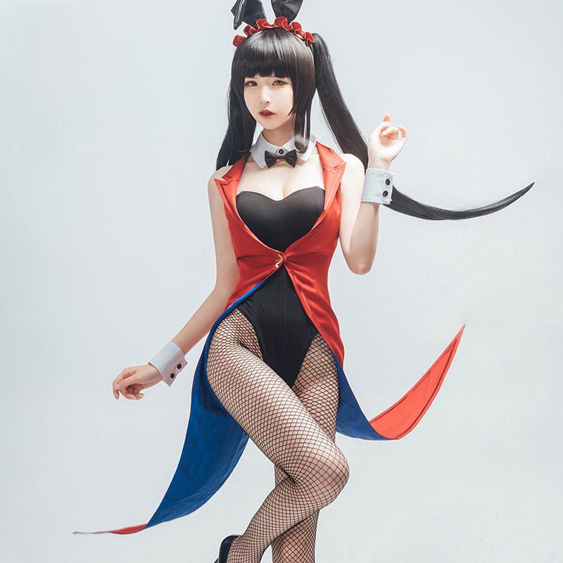 コスプレ衣装 デート・ア・ライブ 時崎狂三 バニーガール cosplay コスプレ衣装 イベント