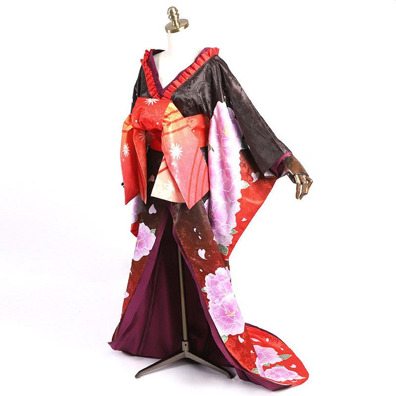 デート・ア・ライブ 時崎狂三 コスプレ衣装 花魁 和風 着物