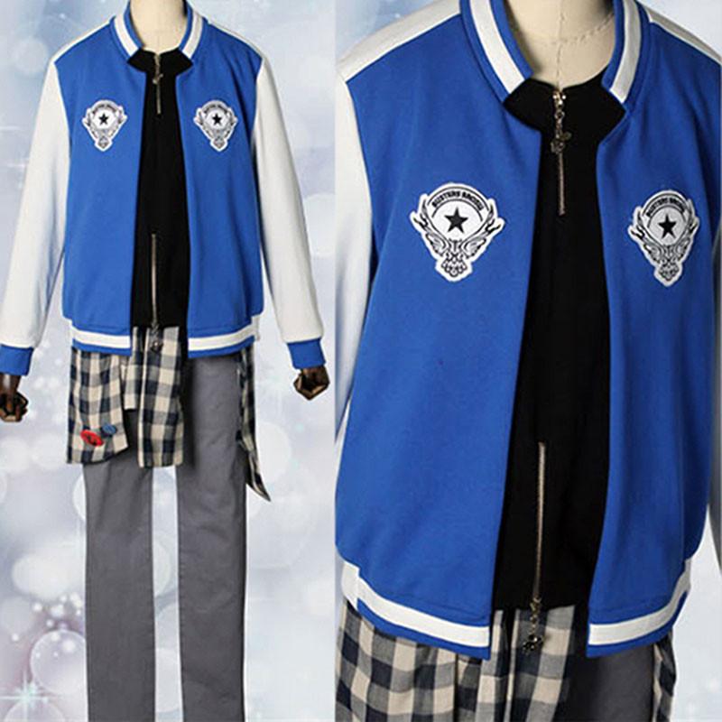 ヒプノシスマイク -Division Rap Battle- 山田 二郎 コスプレ衣装 青色 ジャケット
