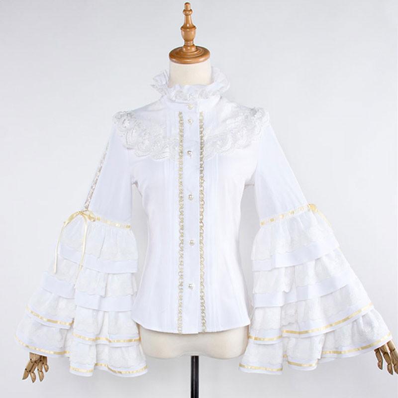 刀剣乱舞 同人洋装セット シャツ ロリータ風 姫袖 トップス