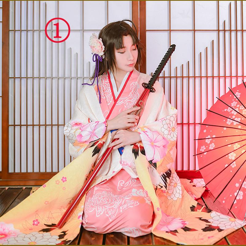 Fate grand order 空の境界 両儀式(りょうぎ しき)鶴 花嫁 着物 二タイプ 選択可能 花火大会 花見 イベント 和服