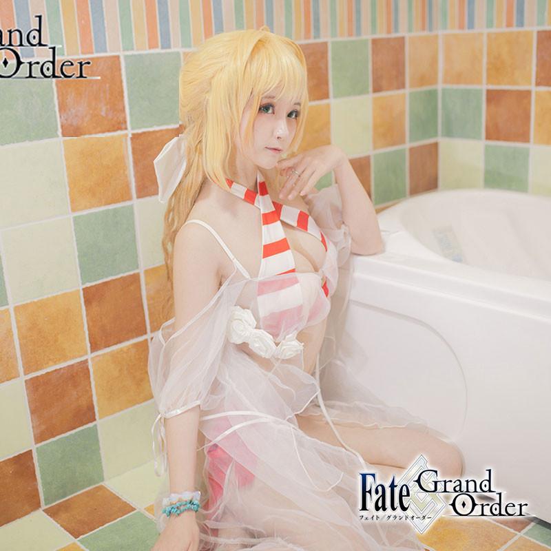 Fate/Grand Order FGO ネロ水着 夏物 温泉 イベント コスプレ衣装