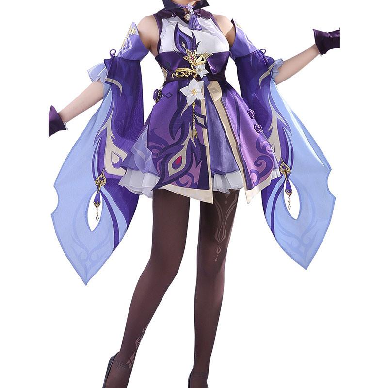 原神 七星刻晴 ゲーム服 少女 変革の星 ドレス 仮装 コスプレ衣装