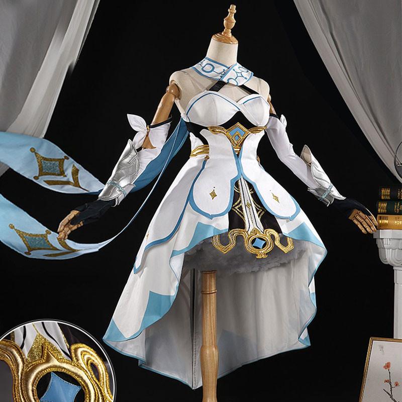 原神 蛍 Lumine ゲーム服 少女 トラベラー 妹 ドレス 仮装 コスプレ衣装
