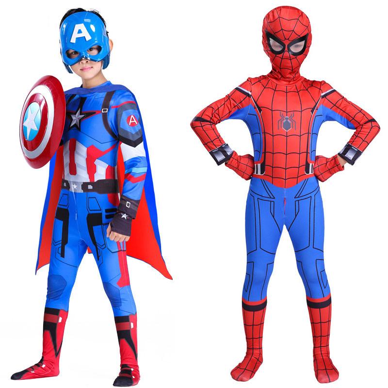ハロウィン スパイダーマン 全身タイツ 子供用コスプレ衣装