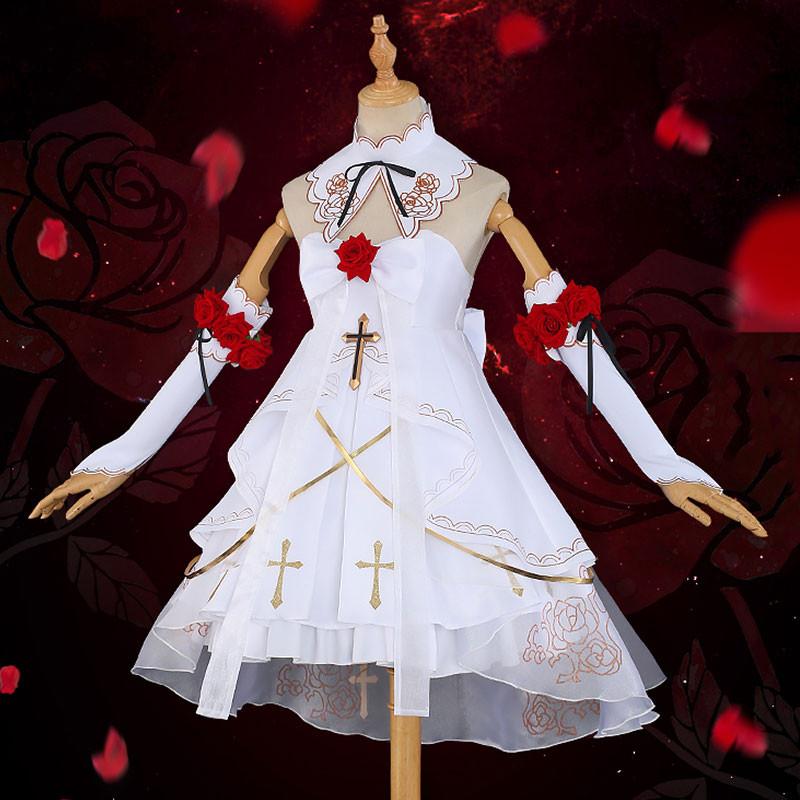 崩壊3rd テレサ?アポカリプス 花と月の詩 月下のドレス 花嫁 コスプレ衣装 白色