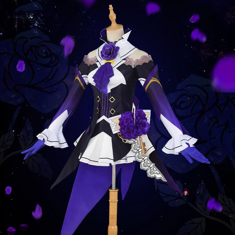 崩壊3rd カレン?カスラナ 黒羽の夜想曲 怪盗 コスプレ衣装 紫色