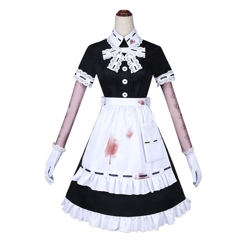 Identity Ⅴ 医師 コスプレ衣装 宴会メイド レース 黒+白