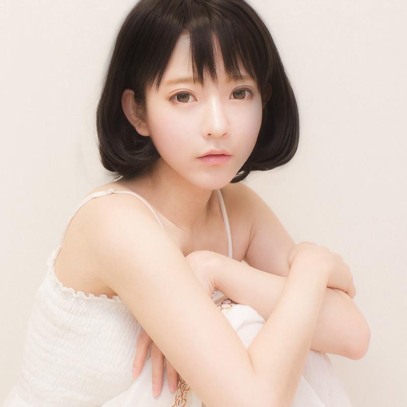 空気感灵动前髪 yurisa 自然女子ウィッグ 日常用 新宿 ロリータ黒  コスプレウィッグ